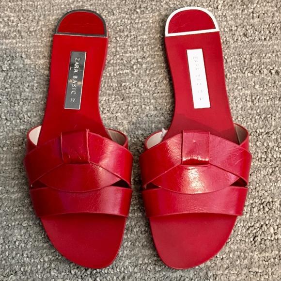 wholesale sales half price elegant shoes Zara Shoes | Red Mule Sandals | Poshmark